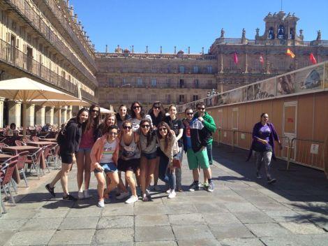 DBN - BB en la plaza mayor de Salamanca